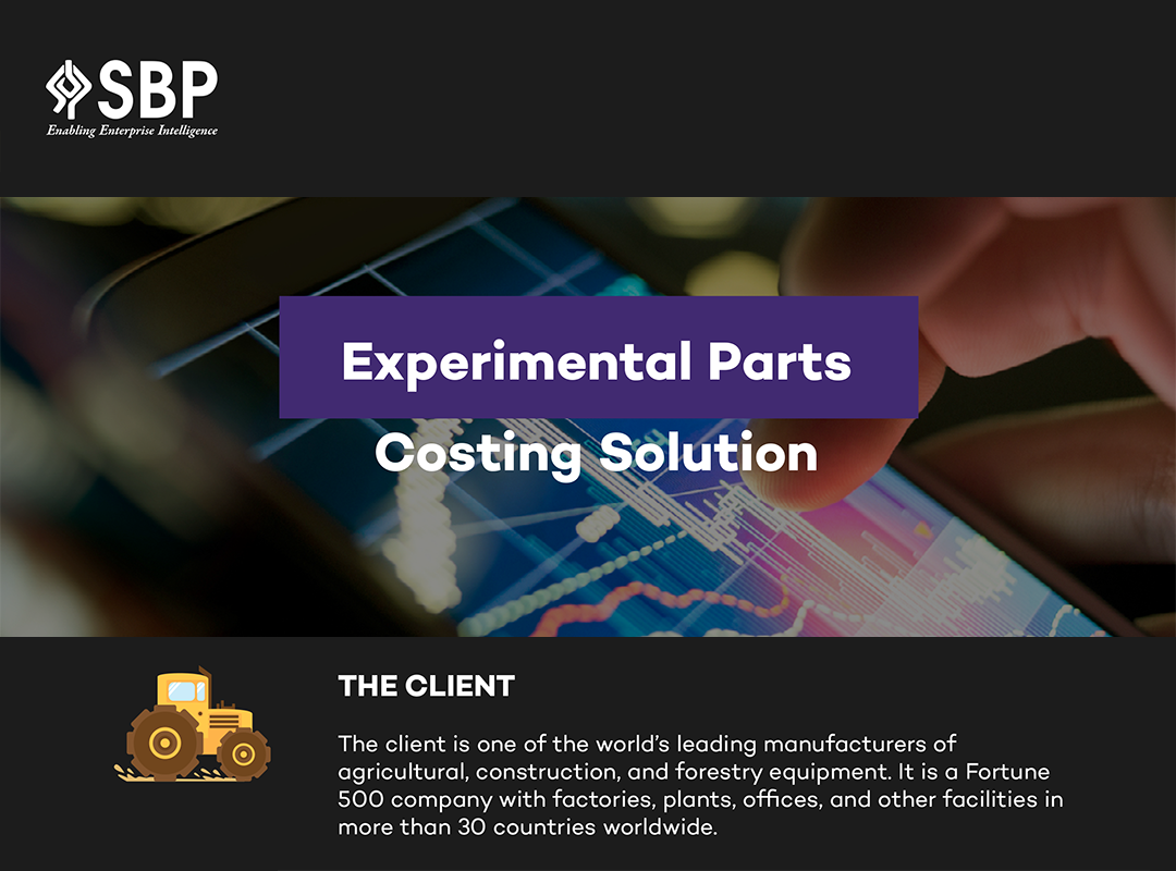 Experimental Parts Costing Solution