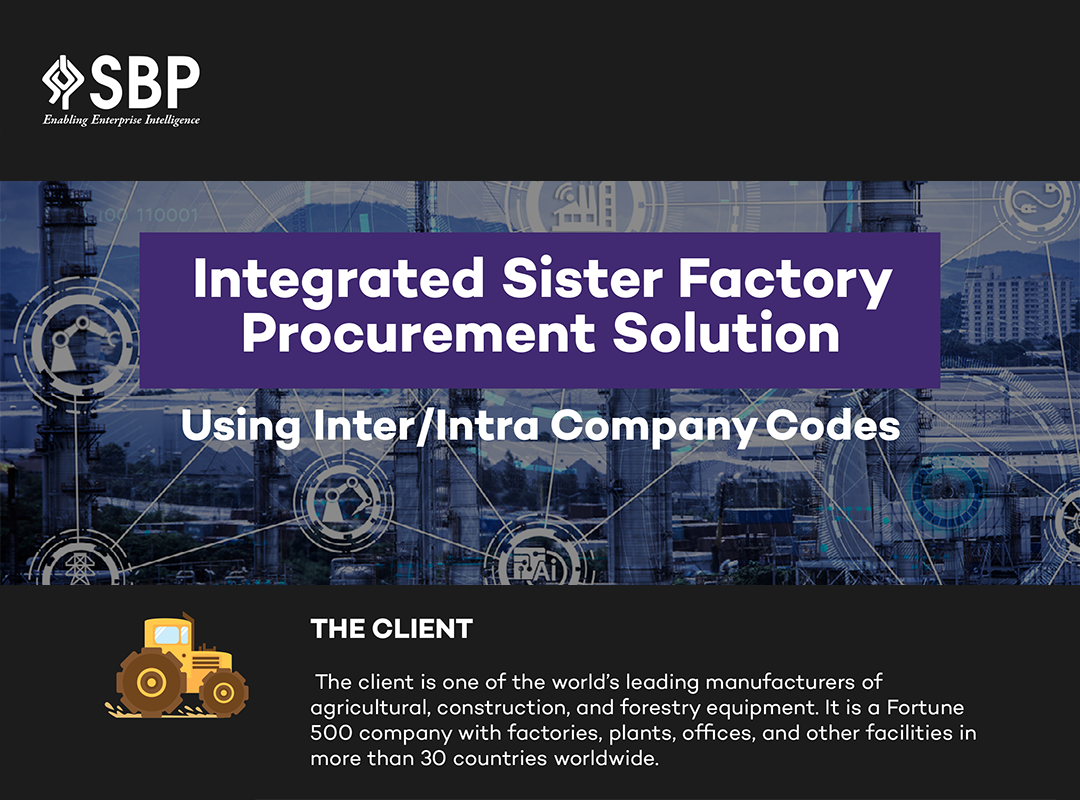 Integrated Sister Factory Procurement Solution