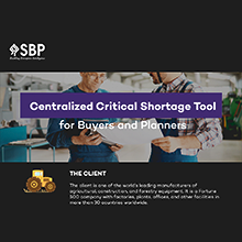 Centralized Critical Shortage Tool for Buyers and Planners