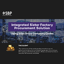 Integrated Sister Factory Procurement Solution Using Inter/Intra Company Codes