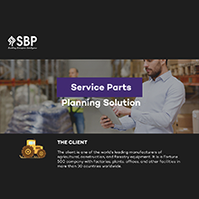 Service Parts Planning Solution
